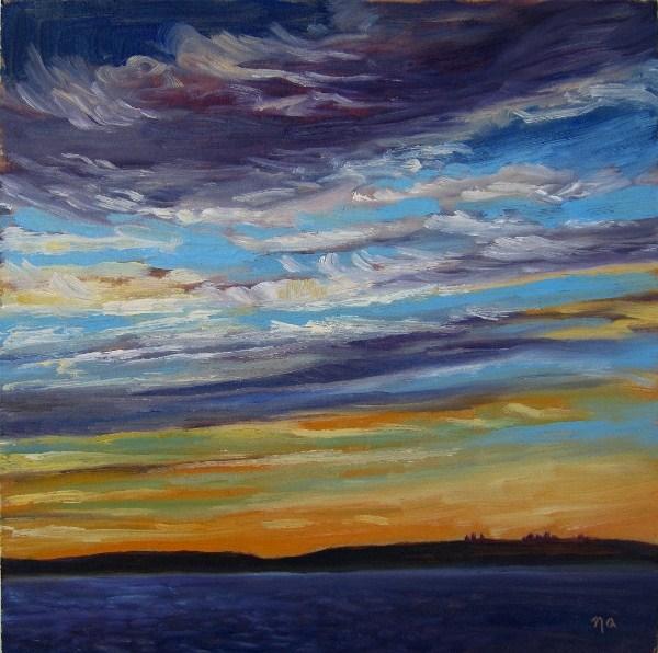 """Day's End, Waskesiu"" original fine art by Nicki Ault"