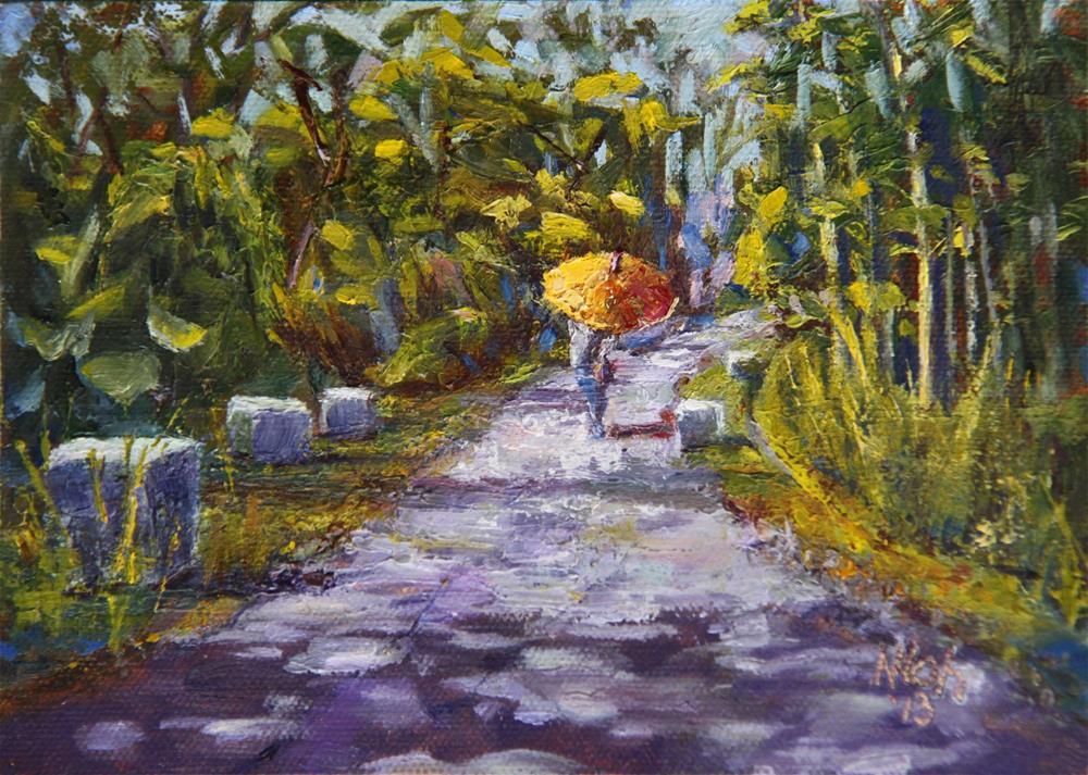 """Transitions: A Path Still."" original fine art by Nancy Loh"