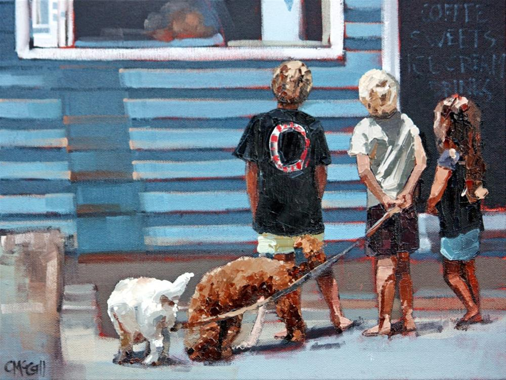 """Beach Kiosk II"" original fine art by Claire McCall"