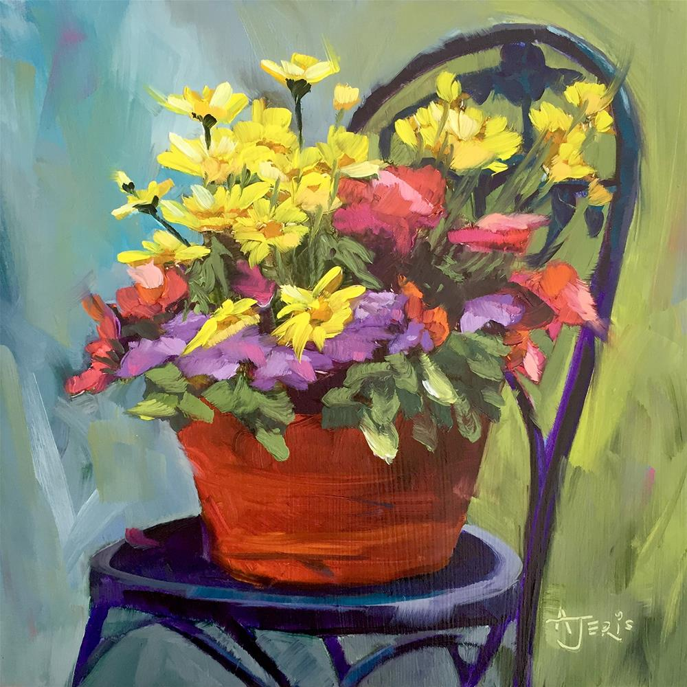 """Potted Posies"" original fine art by Andrea Jeris"
