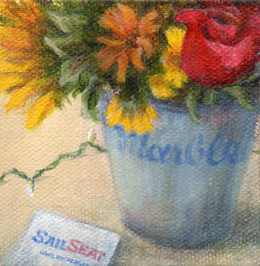 """SailSeat"" original fine art by Debbie Shirley"