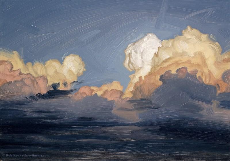 """Passing Storm"" original fine art by Rob  Rey"