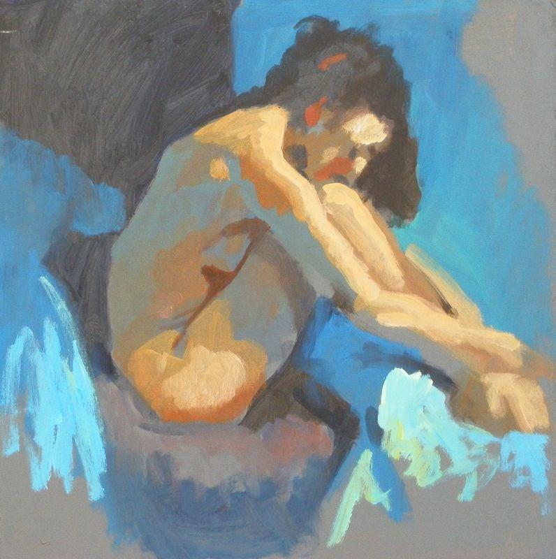 """Colour study"" original fine art by Peter Orrock"