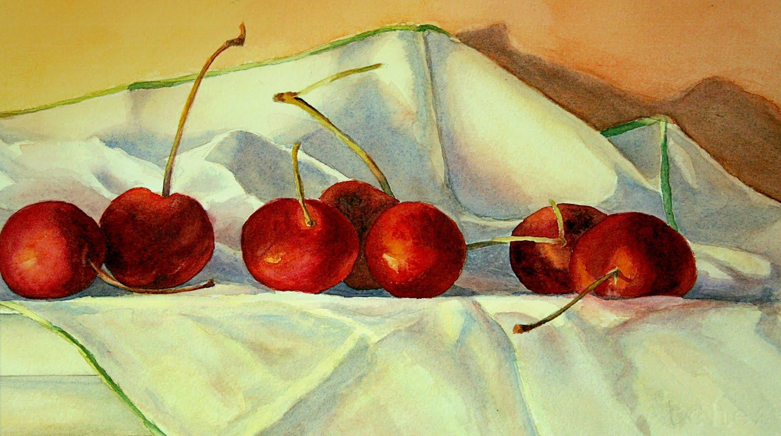 """Cherries Jubilee"" original fine art by Vikki Bouffard"