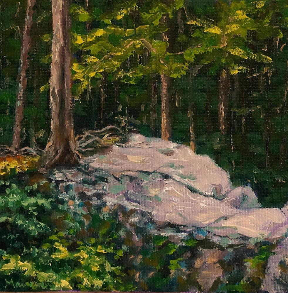 """Rooted Rock"" original fine art by Maria Levandowski"