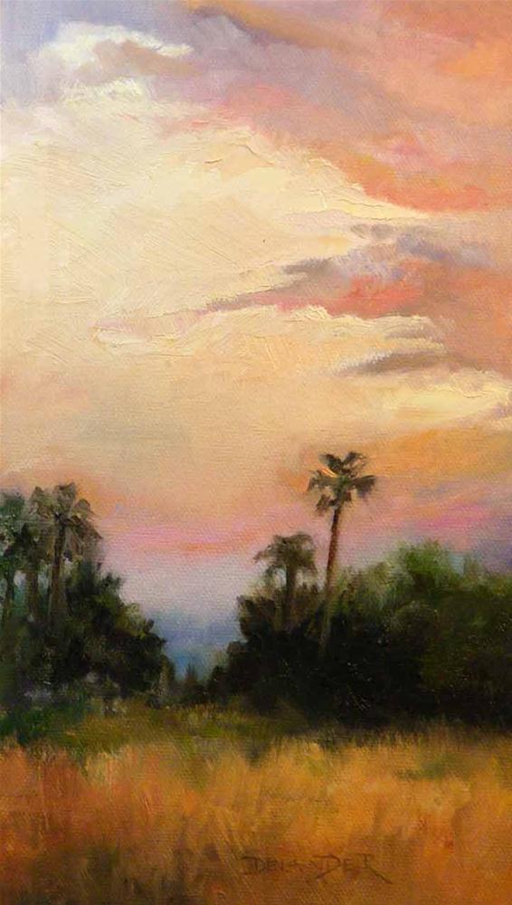 """""""Palm Springs Evening, Landscape"""" original fine art by Diana Delander"""