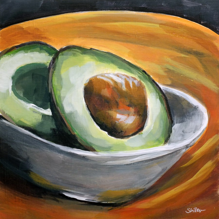 """2744 Avocados are advocate's darling"" original fine art by Dietmar Stiller"