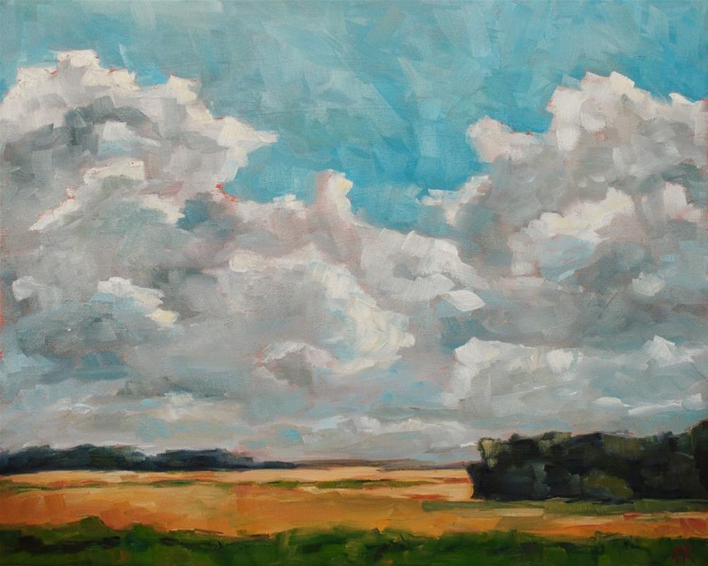 """Kansas Clouds"" original fine art by Alison Kolkebeck"
