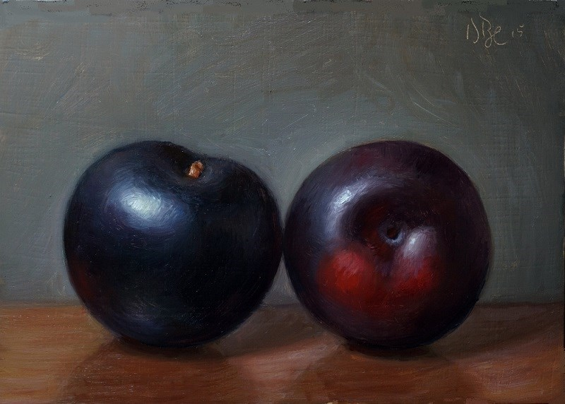 """Black Plums"" original fine art by Debra Becks Cooper"