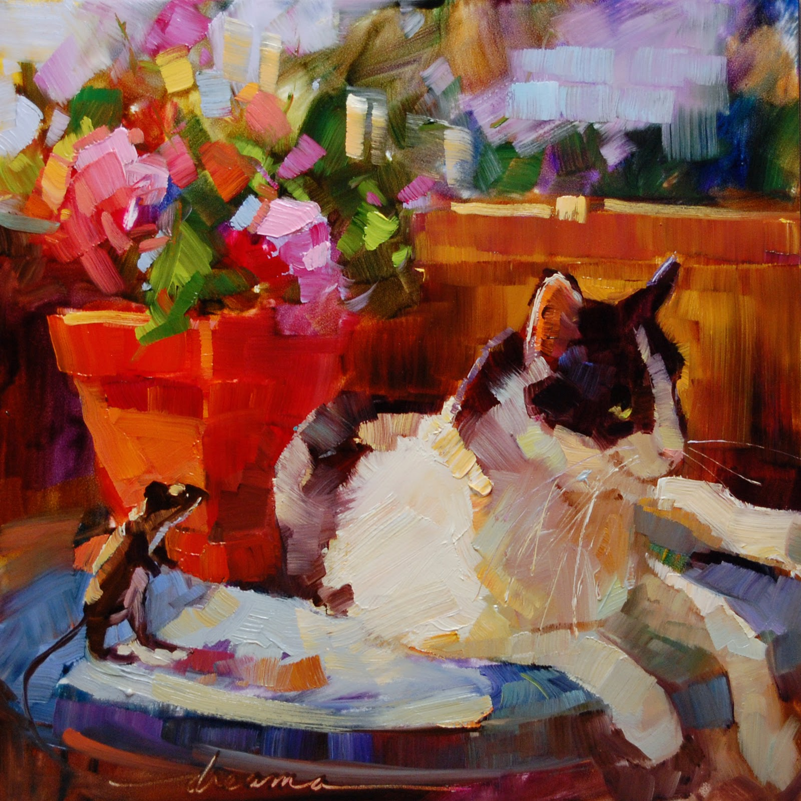 """""""Table for One  SOLD"""" original fine art by Dreama Tolle Perry"""