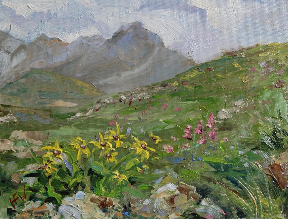 """""""Mountain Wildflowers"""" original fine art by H.F. Wallen"""