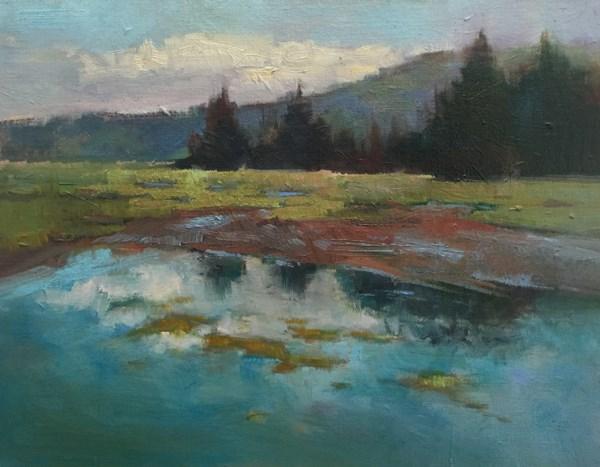 """Whalen Island View"" original fine art by Patti McNutt"