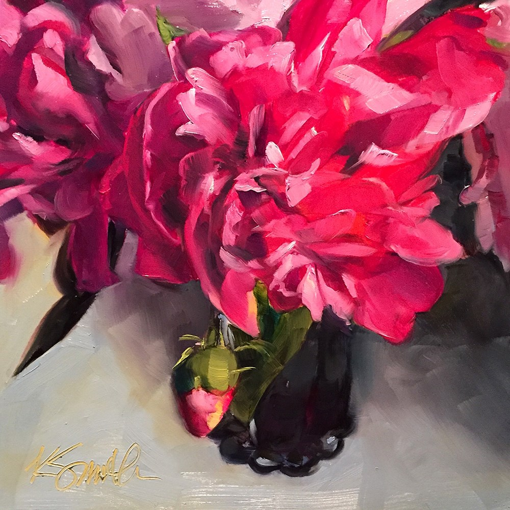"""""""Better Late Than Never"""" original fine art by Kim Smith"""