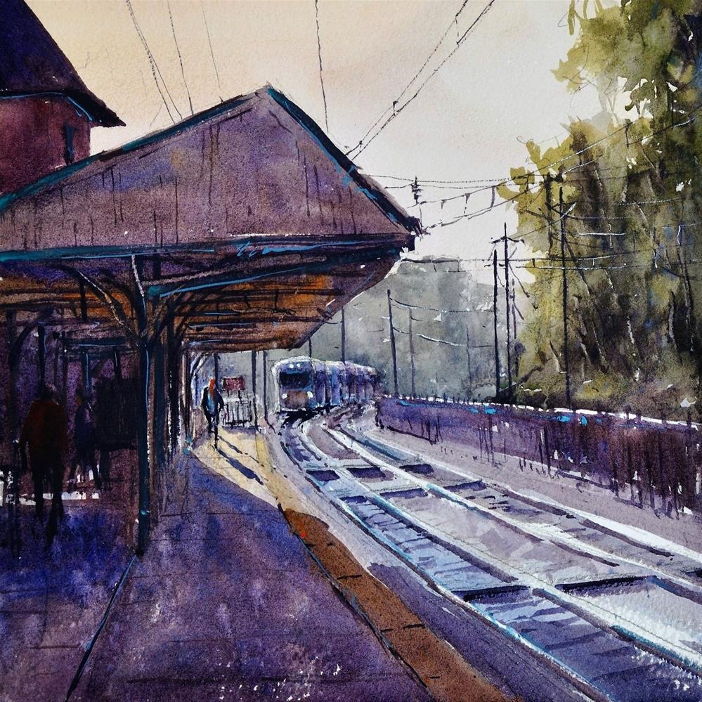 """""""Radnor Station"""" original fine art by Brienne M Brown"""