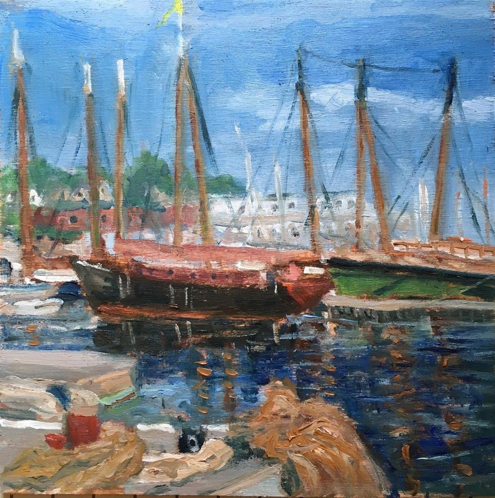 """Camden Windjammers"" original fine art by Shari Goddard Shambaugh"