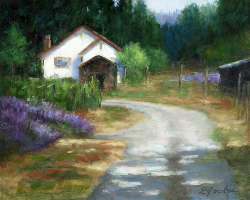 """Lavender Farm"" original fine art by Linda Jacobus"