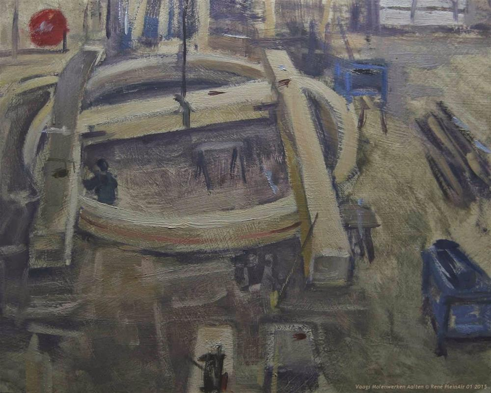 """Vaags Millfactory Aalten The Netherlands."" original fine art by René PleinAir"