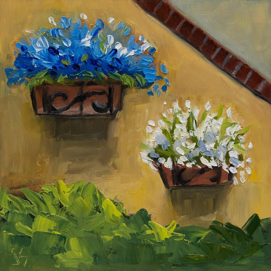 """""""Tuscan Courtyard"""" original fine art by Johnna Schelling"""