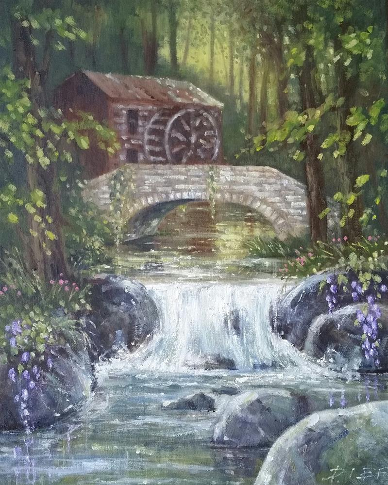 """The Old Mill"" original fine art by Peter Lee"