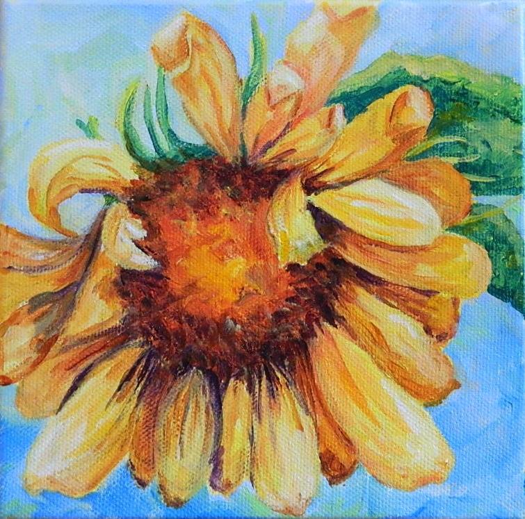 """Sunflower 1"" original fine art by Gloria Urban"