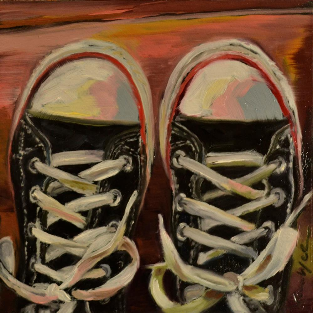 """Vintage Chucks"" original fine art by Karen Weber"