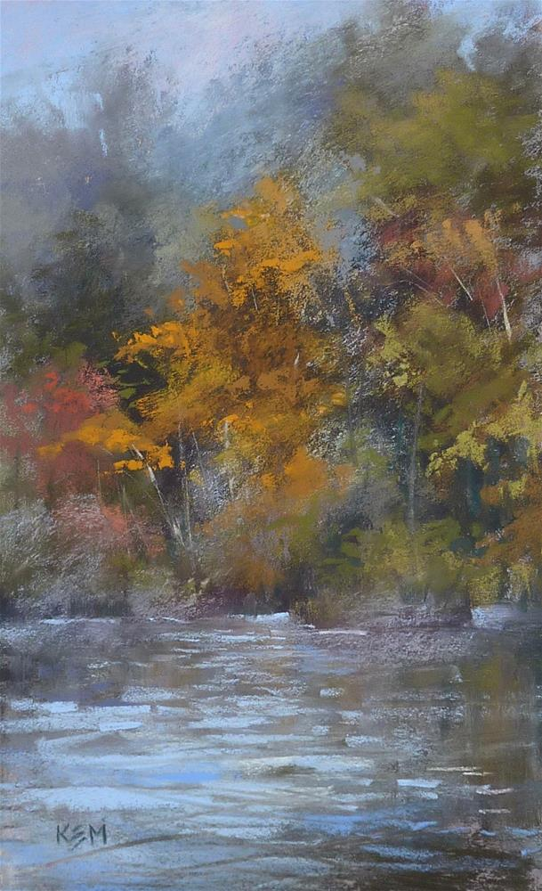 """What is the Secret for Painting a Misty Landscape?"" original fine art by Karen Margulis"