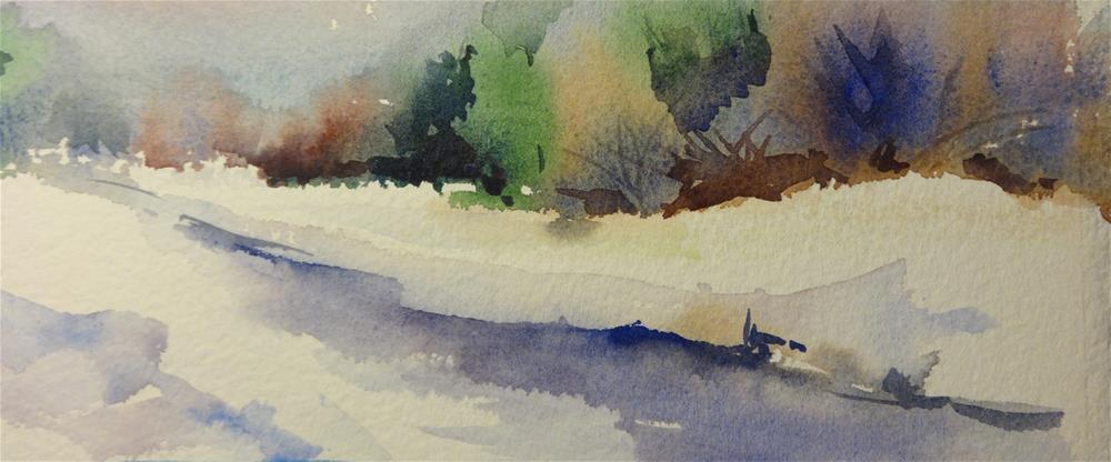 """""""Thanksgiving Snow"""" original fine art by angela scully"""