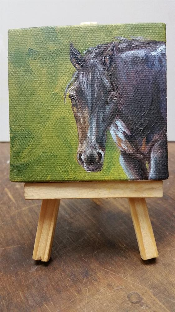 """Dixie-mini painting"" original fine art by Veronica Brown"