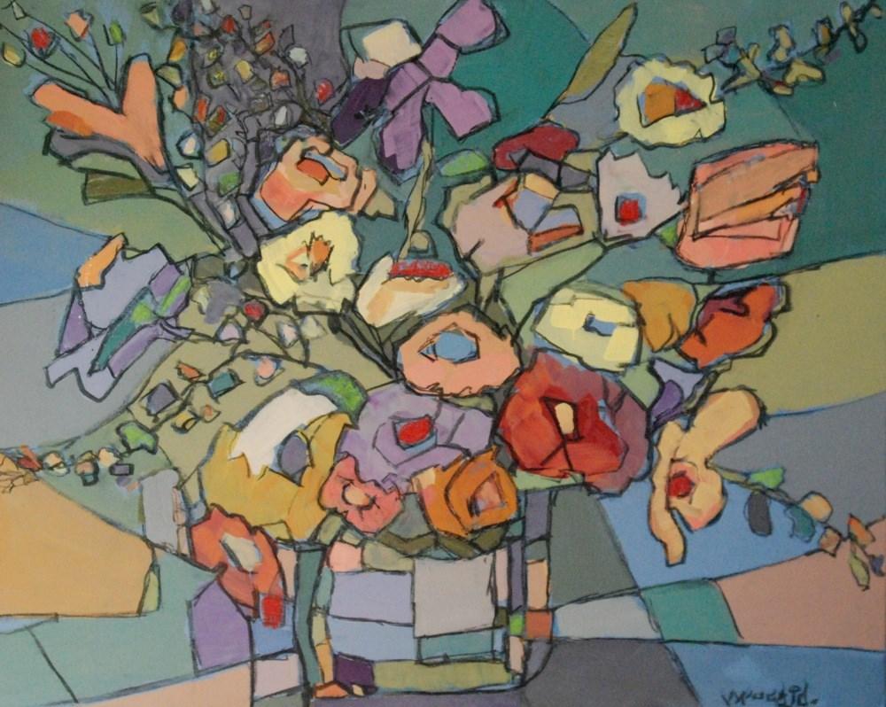 """blooms 2"" original fine art by Vicki Wood"