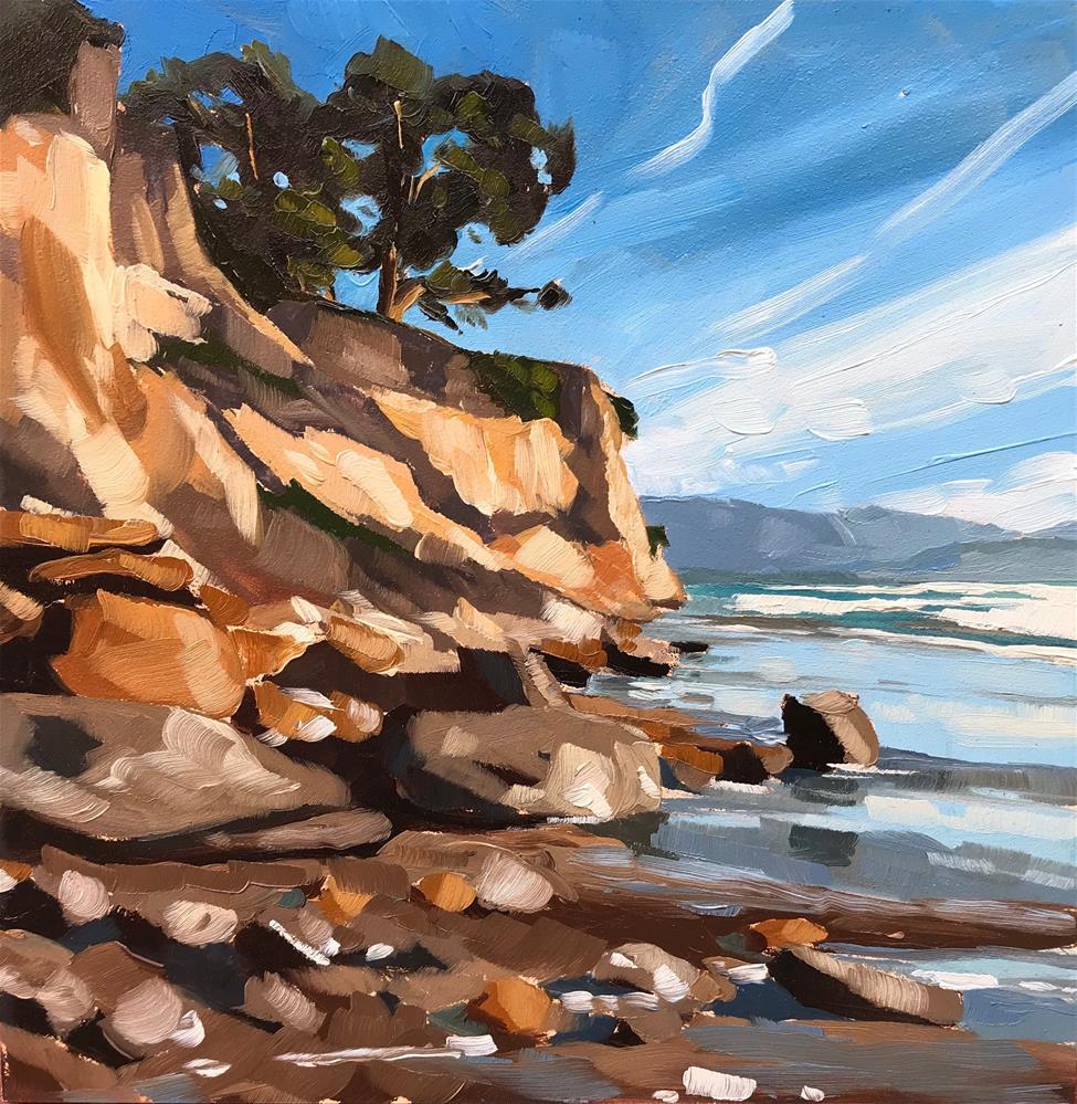 """""""Leadbetter Beach, December"""" original fine art by Sharon Schock"""