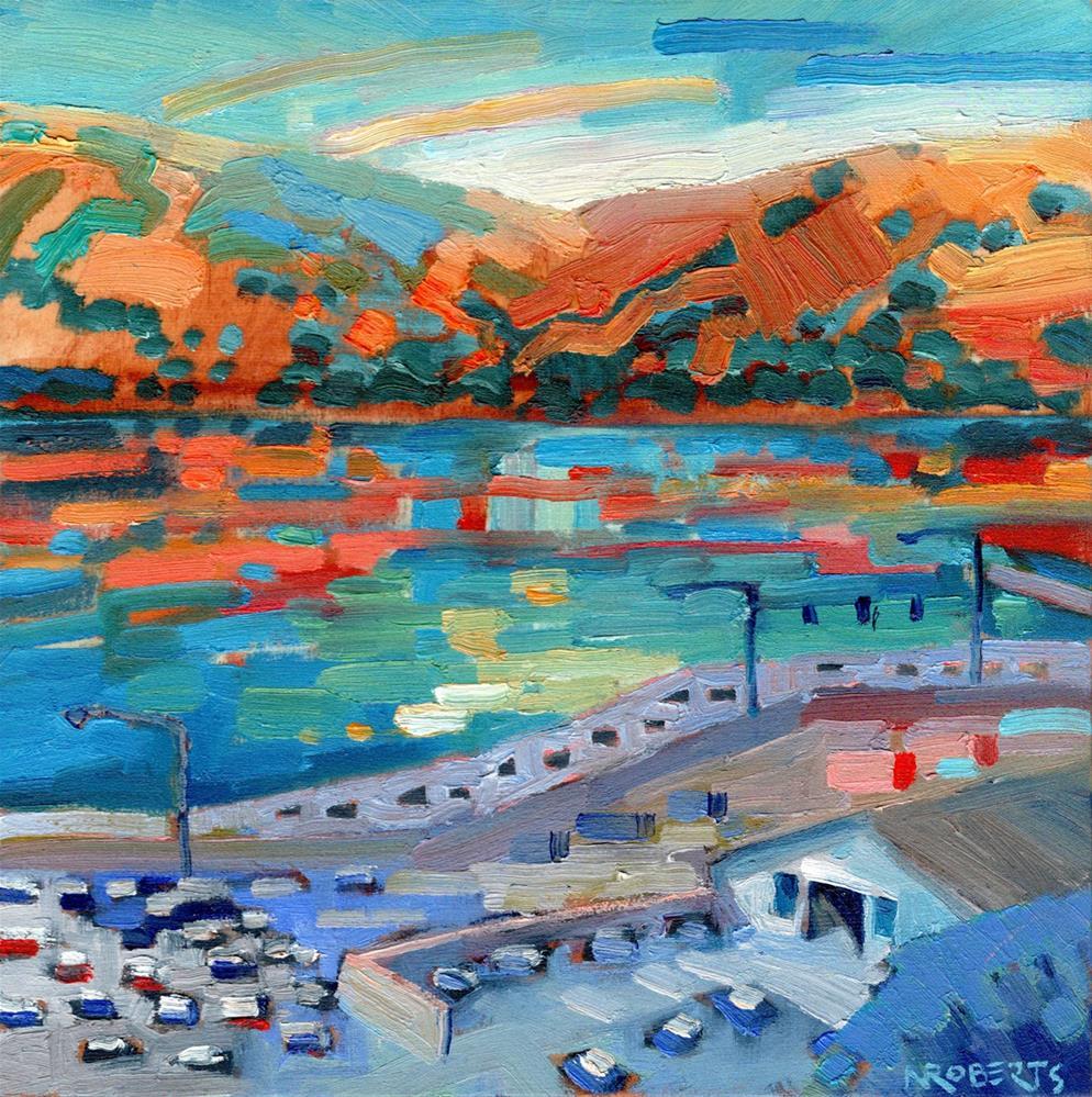 """Benicia Waterfront"" original fine art by Nancy Roberts"