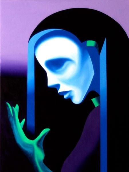 """""""Mark Webster - Ghost Mask Oil Painting"""" original fine art by Mark Webster"""