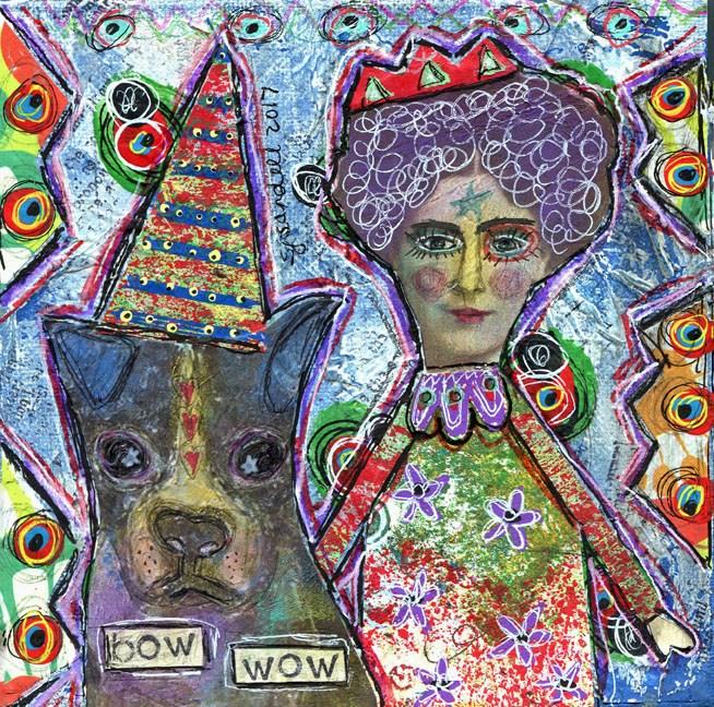 """BOW WOW"" original fine art by Sonja Sandell"