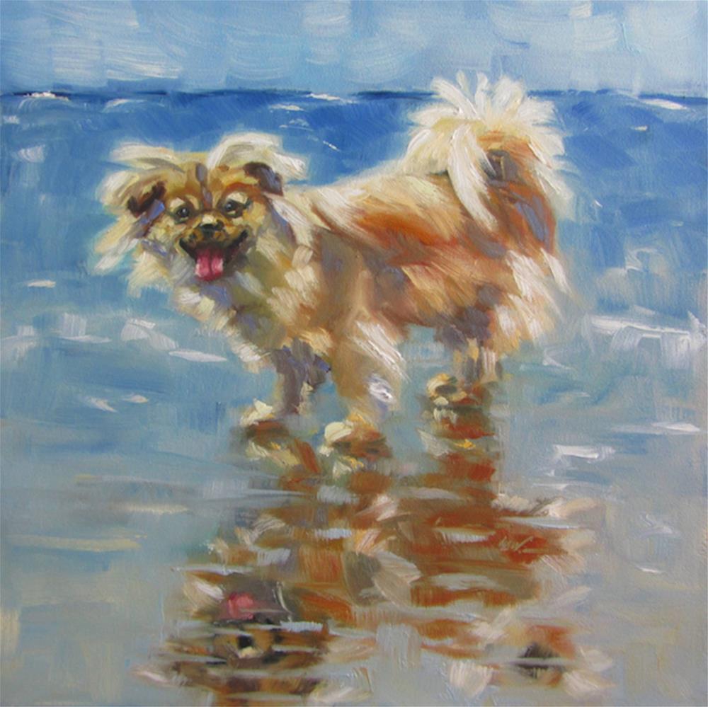 """Max the Wonder Dog"" original fine art by Mb Warner"