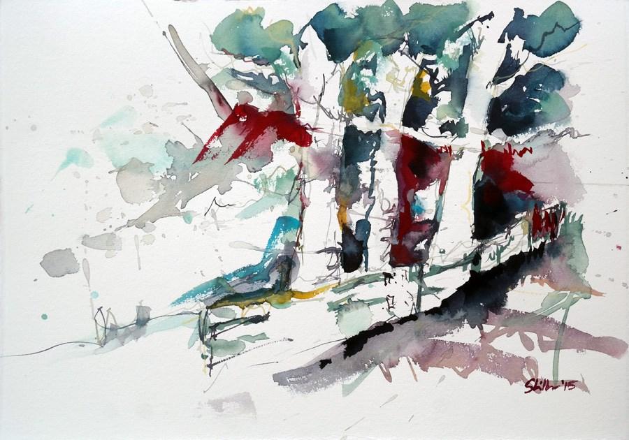 """""""1420 Expressive Alley"""" original fine art by Dietmar Stiller"""