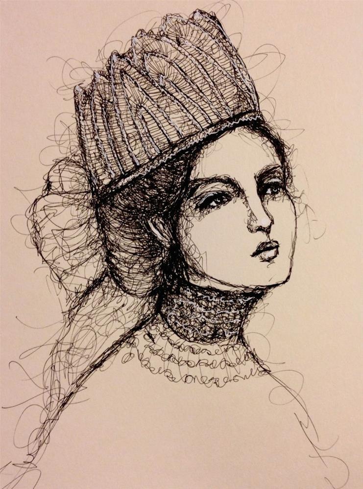 """The Russian Bride"" original fine art by Roberta Schmidt"