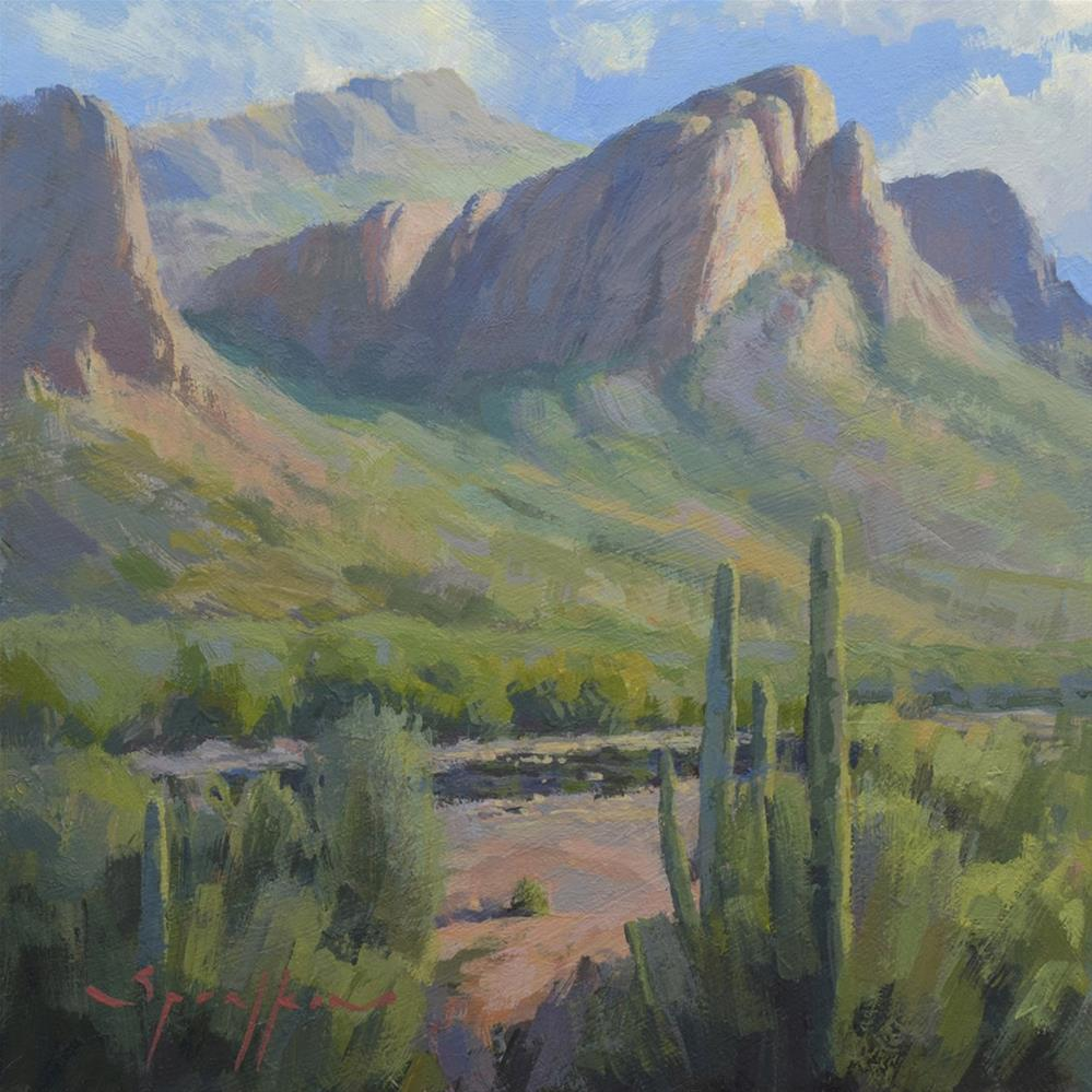 """Salt River Sunlight"" original fine art by Edward Sprafkin"
