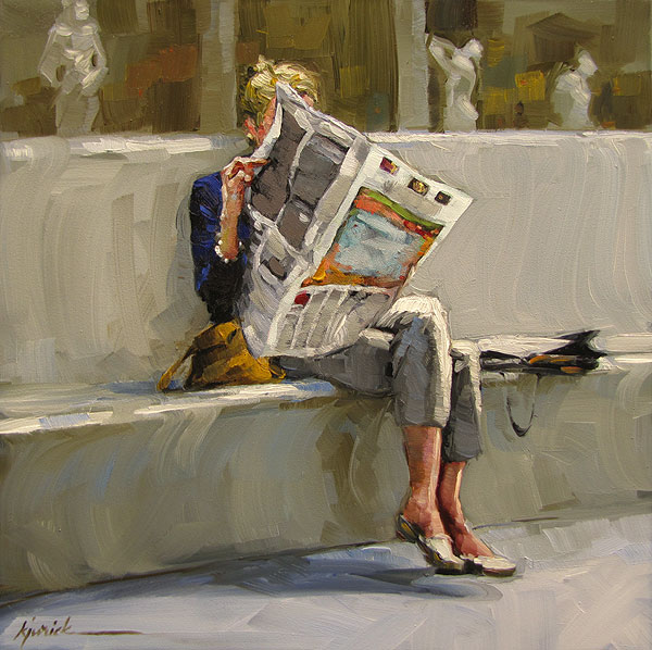 """News Anchor"" original fine art by Karin Jurick"