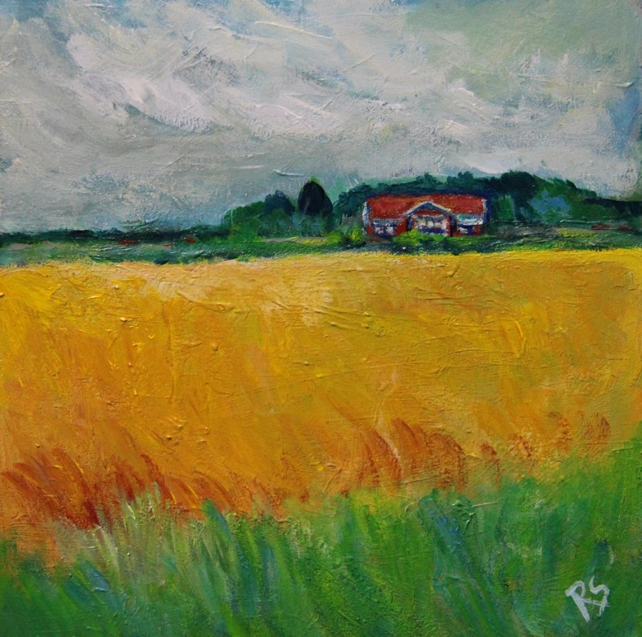"""The Golden Fields of Sweden"" original fine art by Roberta Schmidt"