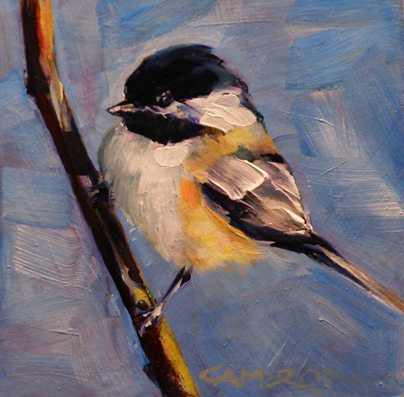 """MY LITTLE CHICKADEE"" original fine art by Brian Cameron"