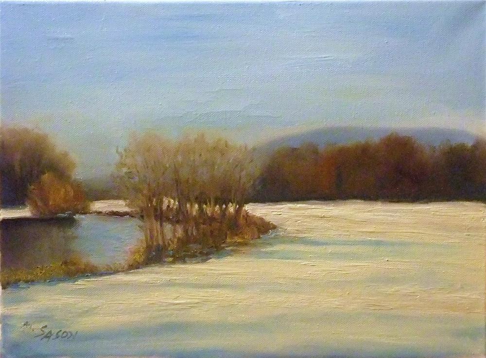 """Snowy Valley"" original fine art by Michael Sason"