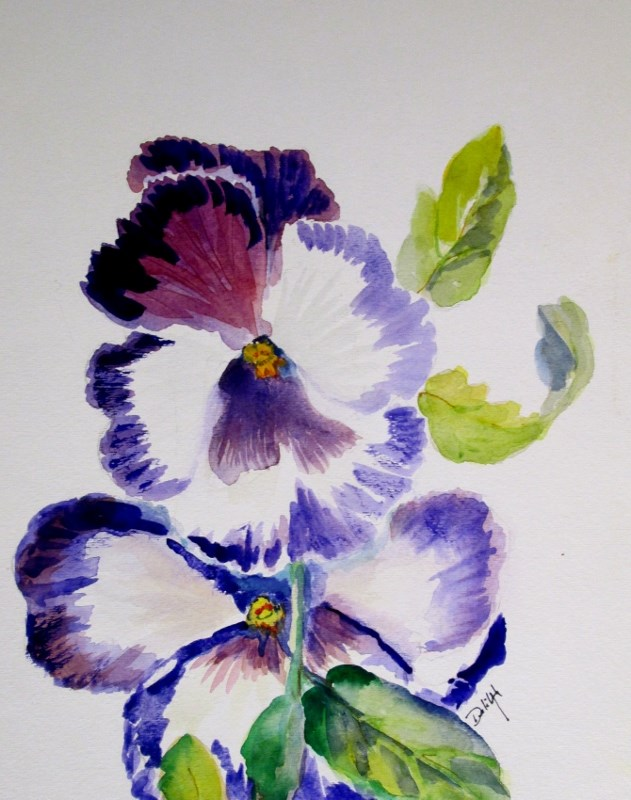 """Pansies No. 2"" original fine art by Delilah Smith"