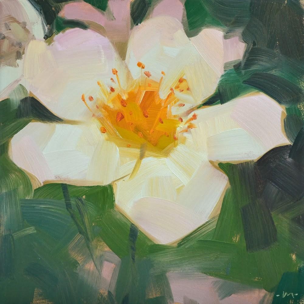 """You're a Delicate Flower"" original fine art by Carol Marine"