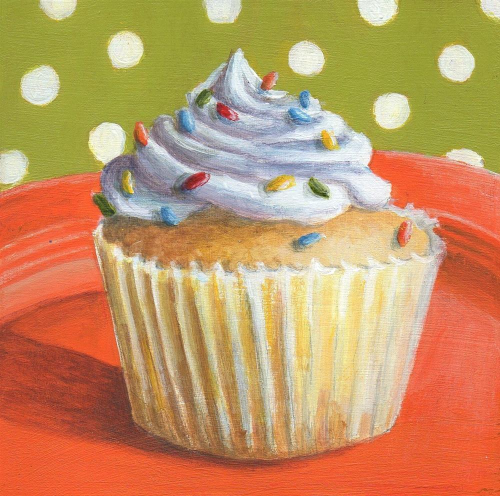 """Cupcake #1"" original fine art by Debbie Shirley"