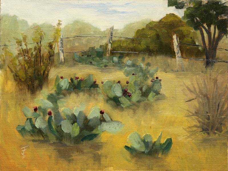 """Prickly Pear Fruit Bounty"" original fine art by Jane Frederick"