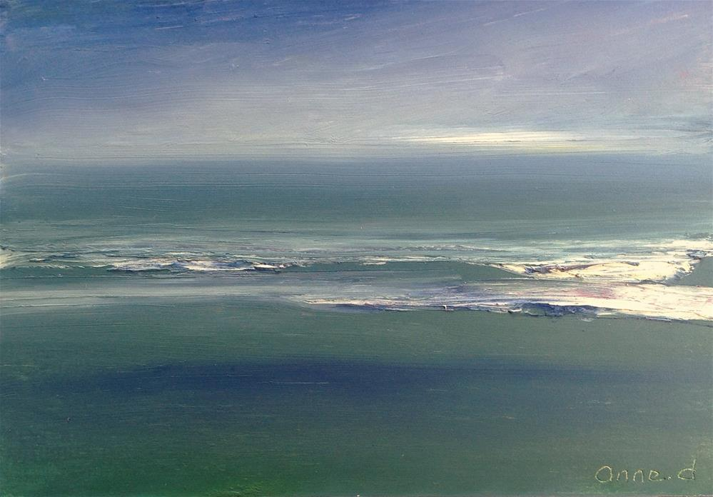 """Vent D'Ouest sur la Mediterranée - Western Wind on the Mediterranean"" original fine art by Anne Ducrot"