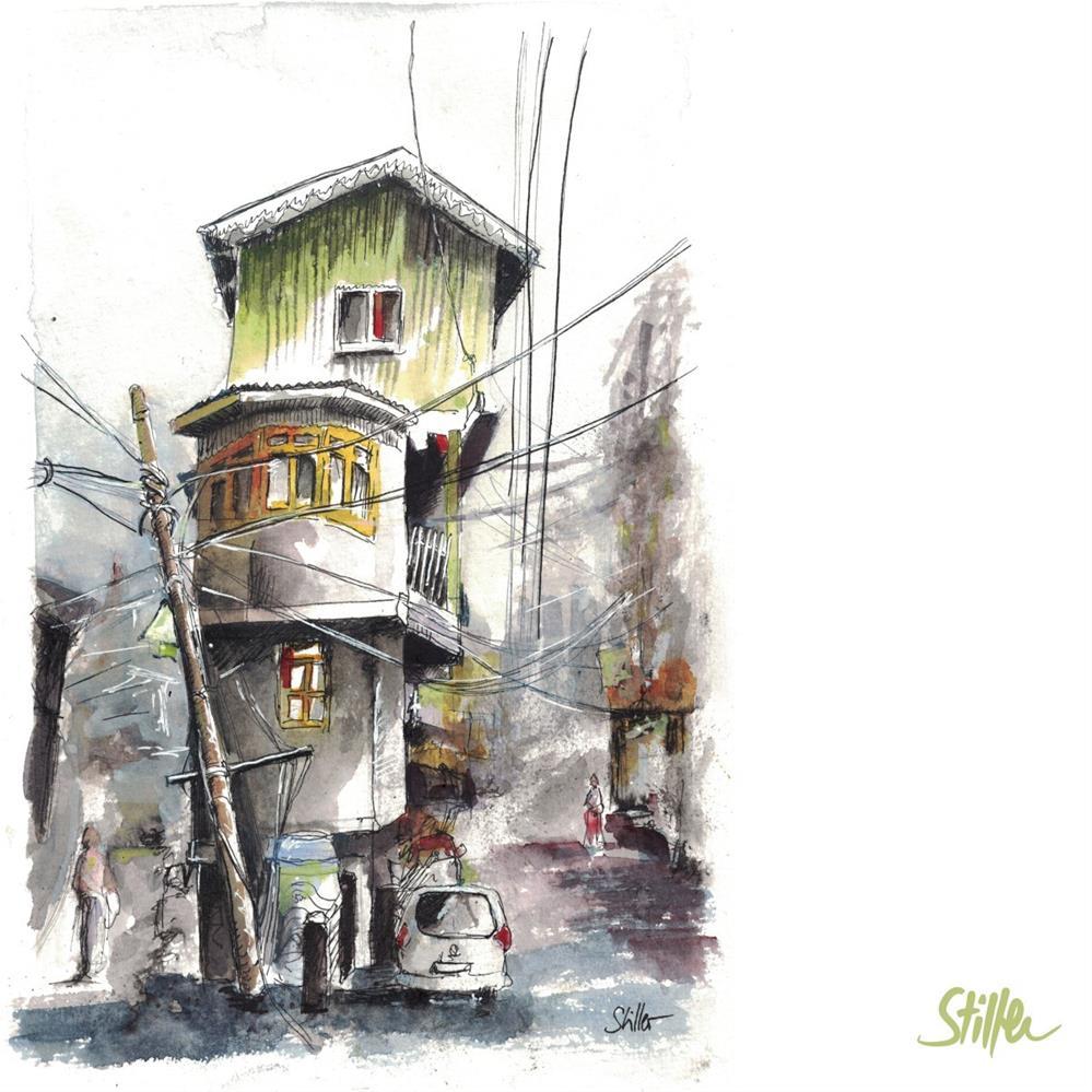 """""""3373 Asian Street"""" original fine art by Dietmar Stiller"""
