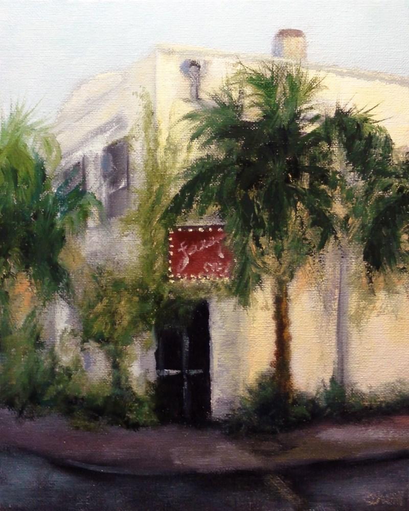 """The Cafe"" original fine art by Dalan Wells"