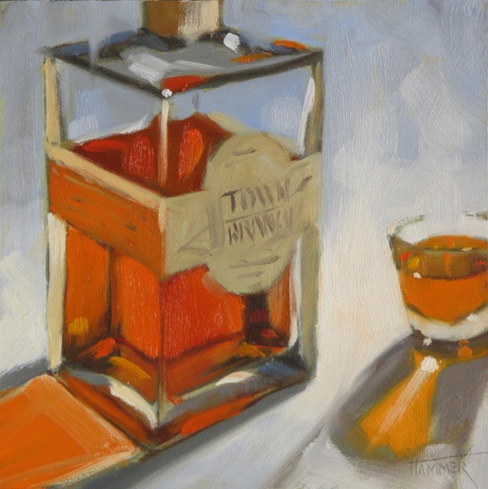 """Town Branch 6x6 oil"" original fine art by Claudia Hammer"