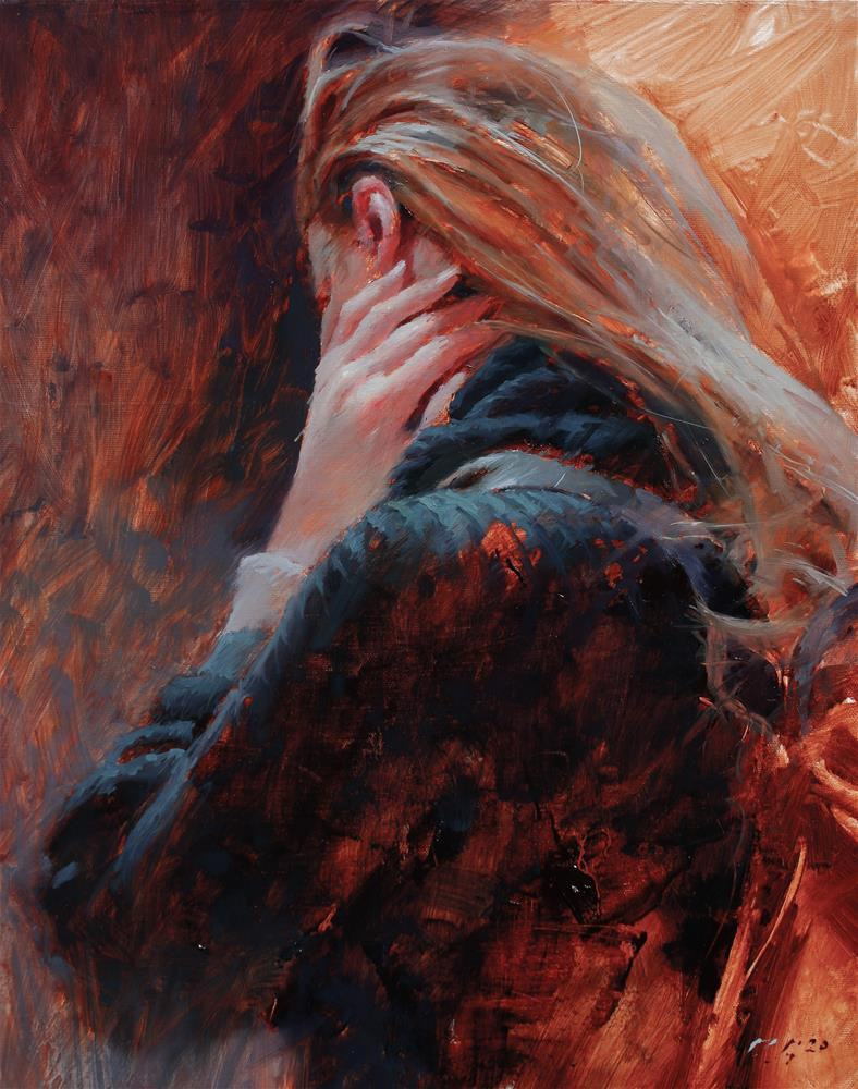 """Moment of Though"" original fine art by Dimitriy Gritsenko"